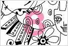 モノクロ線画イラストKURAKURAシリーズ8