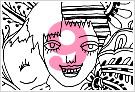 モノクロ線画イラストKURAKURAシリーズ9