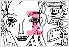 モノクロ線画イラストKURAKURAシリーズ1
