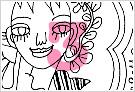 モノクロ線画イラストKURAKURAシリーズ3