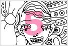 モノクロ線画イラストKURAKURAシリーズ5
