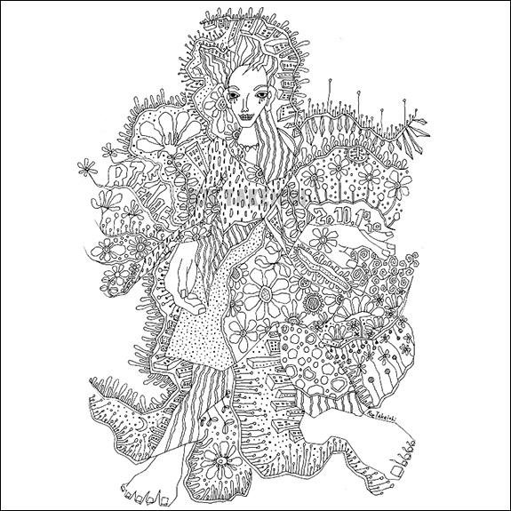 モノクロ線画KURAKURA1