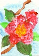 ボケの花のイラスト