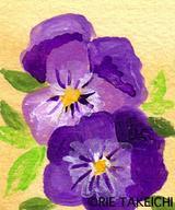 ビオラ(紫)のイラスト