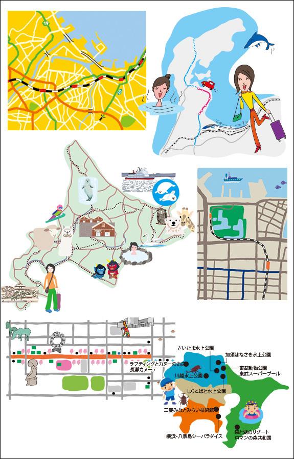 日本各地のイラストマップ