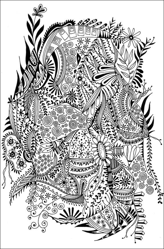 模様(パターン)モノクロ1